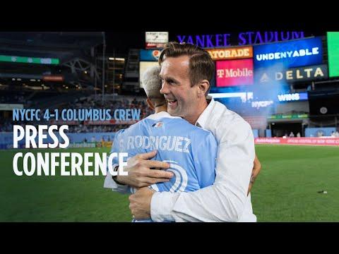 Press Conference   NYCFC 4-1 Columbus Crew