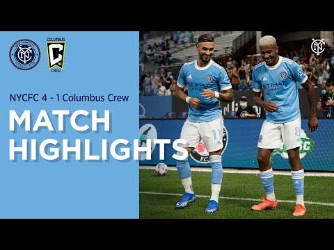Match Highlights   NYCFC 4-1 Columbus Crew