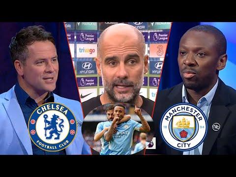 Chelsea vs Man City 0-1 Gabriel Jesus On Fire Goal⚽ Pep Guardiola Reaction   Michael Owen Analysis
