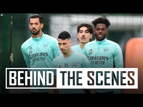 Getting set for Brentford!   Behind the scenes at Arsenal training centre