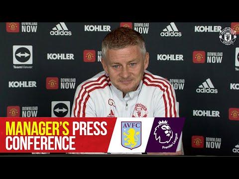 Manager's Press Conference   Manchester United v Aston Villa   Ole Gunnar Solskjaer   Premier League