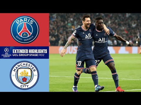 PSG vs. Man. City: Extended Highlights   UCL Group Stage MD 2   CBS Sports Golazo
